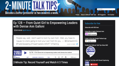 Denise All Galloni 2 minute talk tips